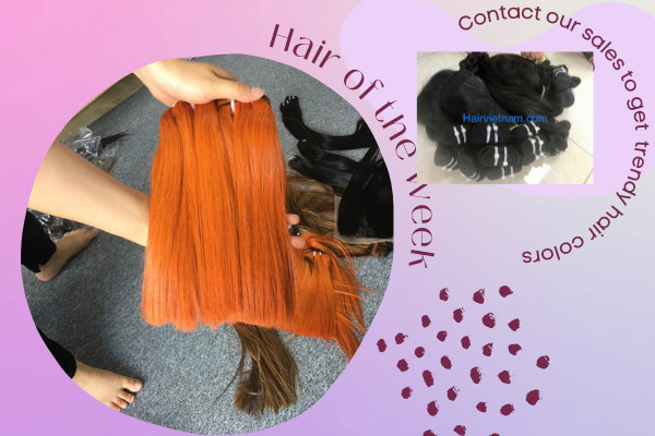 Straight hair with vibrant colors provides a shine to skin.